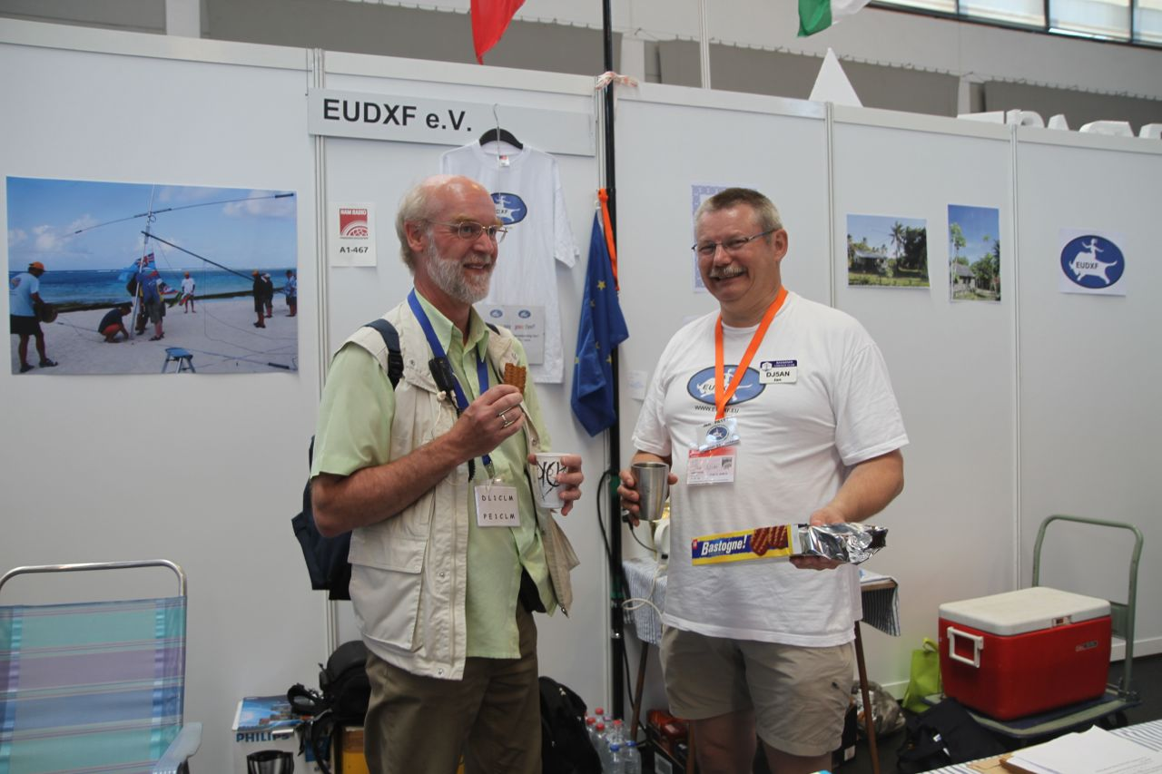 Thanks to Jan DJ5AN's efforts at Ham Radio in Friedirichshafen EUDXF welcomed 14 new EUDXF members. With coffee and cookies Jan and his team convinced DX-ers that joining EUDXF is a good investment.